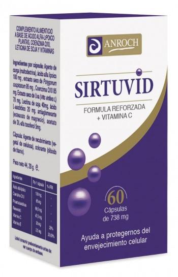 SIRTUVID, 60 cápsulas de 550 mg.