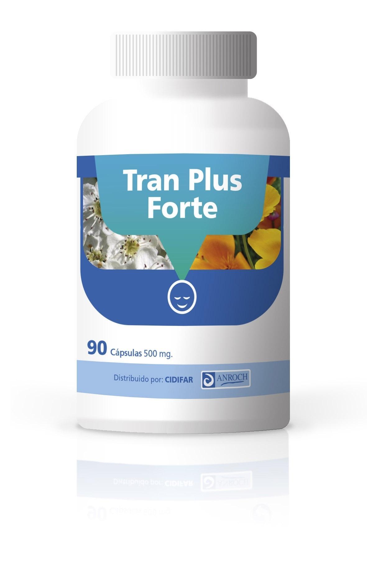 TRAN PLUS FORTE, 90 cápsulas de 500 mg. ¡OFERTA TEMPORAL sin gastos de envío!