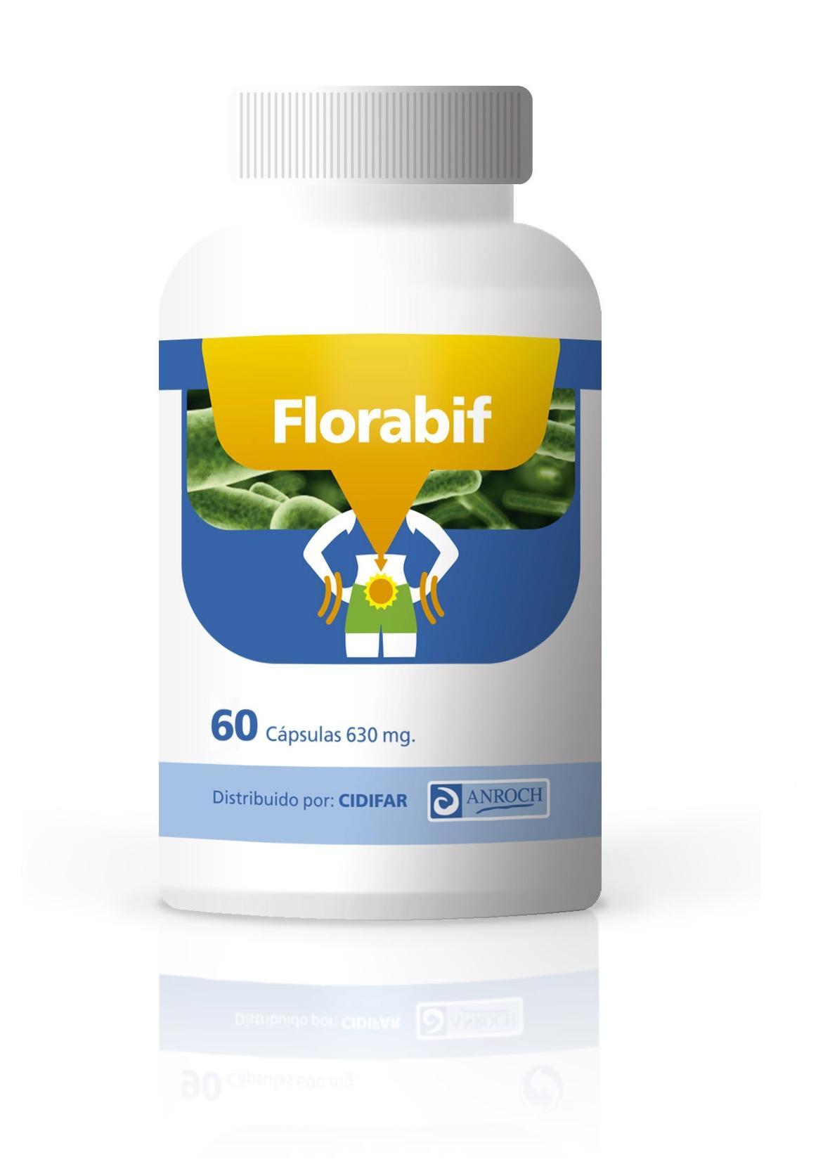 FLORABIF, 90 cápsulas de 630 mg.