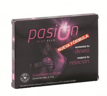 PASIÓN PLUS ELLA, 10 cápsulas de 875 mg.¡OFERTA ESPECIAL 3 X 2!
