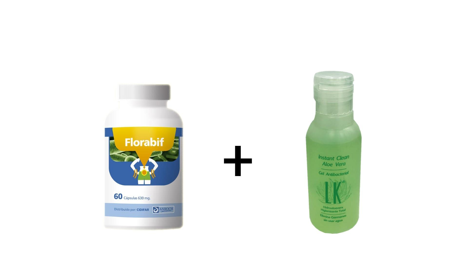 PACK: 1 FLORABIF + 1 GEL ANTIBACTERIAL INSTANT CLEAN 75 ML DE REGALO